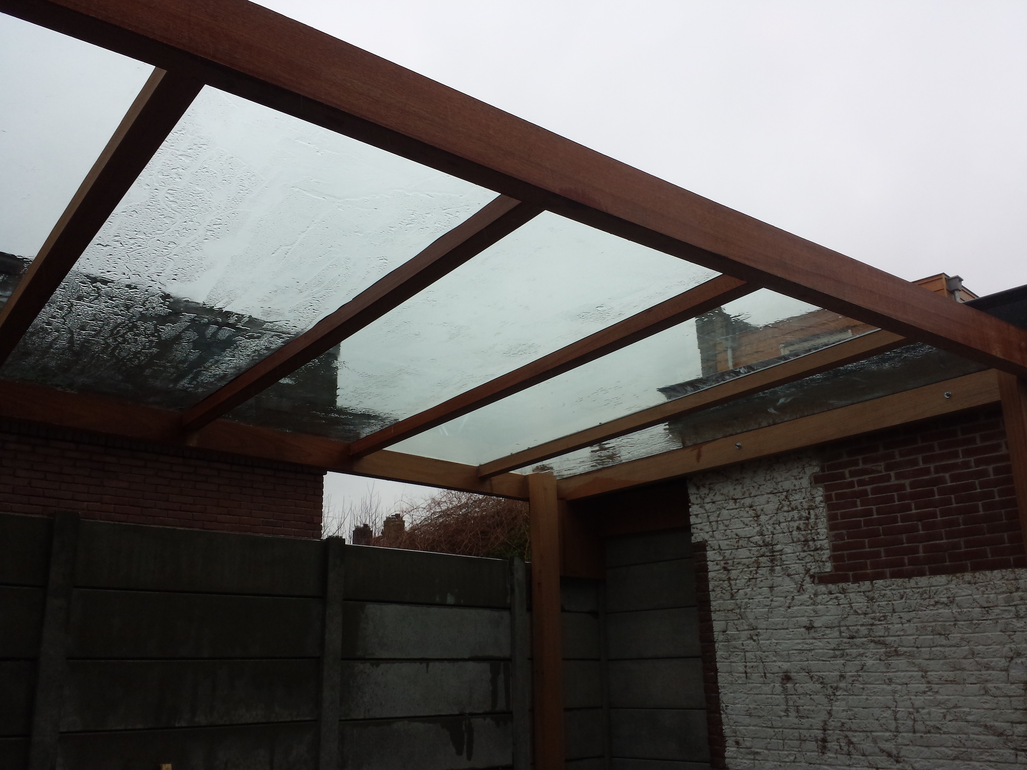 Glass Roof Veranda With Wooden Frame Ts Works